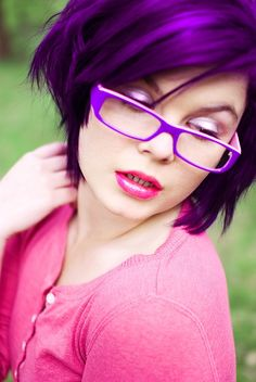 Loving the Purple hair and glasses!