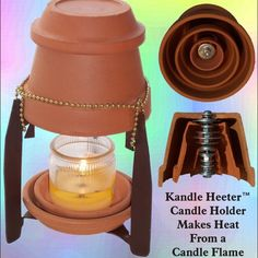 Amazing heater made from quality clay pots, washers, nuts and bolt. Turns candle heat into radiant heater.No DIY but is good pic of how to do Camping Survival, Survival Prepping, Emergency Preparedness, Survival Skills, Emergency Supplies, Candle Heater, Candle Power, Power Outage, Cool Stuff