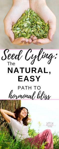 Hormonal imbalance is common, but you can take control of your hormones with this simple seed cycling tutorial. By incorporating the right seeds at the right times, you can bring balance back to your cycle! Read more from The Family That Heals Together Foods To Balance Hormones, Balance Hormones Naturally, Pcos, Endometriosis Diet, Hypothyroidism, Be Natural, Natural Health, Natural Cures, Natural Wonders