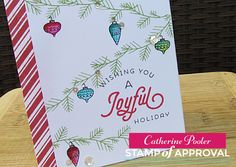 Merry and Bright Boughs Stamp Set makes holiday card making easy!  This is one out of 7 products that come in our Candy Cane Lane Stamp of Approval collection.  www.cpstampofapproval.com