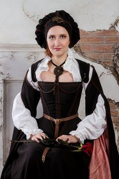 Cocoa brown historical renaissance costume by DressArtMystery