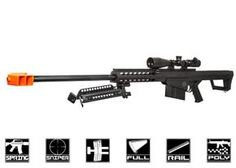 Lancer Tactical M82 Polymer Spring Sniper Rifle w/ Bipod Airsoft Gun