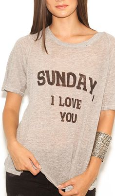 DEAR SUNDAY PERFECT TEE.  Super soft jersey.  Great for a Sunday!