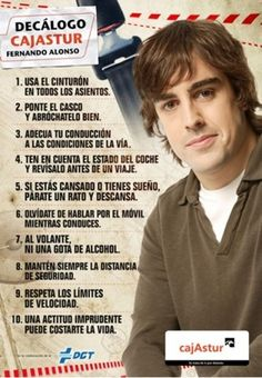 Seguridad vial: consejos de Fernando Alonso