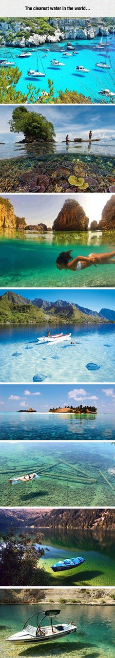 Funny pictures about Crystal Clear Water At Its Best. Oh, and cool pics about Crystal Clear Water At Its Best. Also, Crystal Clear Water At Its Best photos. Places Around The World, Oh The Places You'll Go, Places To Travel, Places To Visit, Foto Nature, All Nature, Dream Vacations, Vacation Spots, Adventure Is Out There