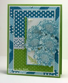 The Stampin Schach: Bashful, Marina, Celery Field Flowers for Pals Paper Arts Beautiful! Make Your Own Background, Happy Birthday Woman, Paper Art, Paper Crafts, Craft Sites, Paper Background, Stamping Up, Flower Cards, Homemade Cards