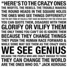 challenge the status quo!