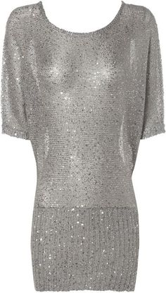 Jane Norman Silver Sequin Batwing Sweater in Gray (silver) Silver Sequin, Metallic, New Years Dress, Jane Norman, Grey Skies, Bat Wings, Silver Color, Style Me, Cool Outfits