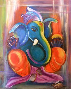 Happy Ganesh Chaturthi To You All! Ganesha Painting, Ganesha Art, Krishna Art, Lord Ganesha, Jai Ganesh, Indian Gods, Indian Art, Ganpati Drawing, Happy Ganesh Chaturthi