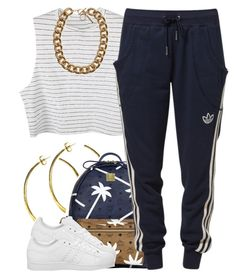 """july 21 2k14"" by xo-beauty ❤ liked on Polyvore featuring Rebecca Norman, MCM and adidas"