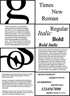 times new roman poster - Google Search