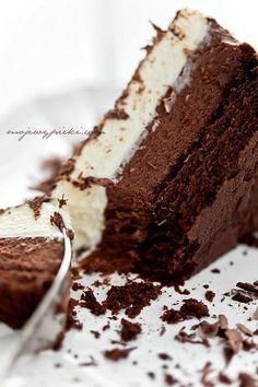 Potrójnie musowe ciasto czekoladowe - krem mus z gorzkiej czekolady super