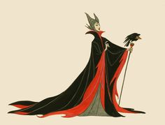 Concept art for the Maleficent character in Disney's Sleeping Beauty Sleeping Beauty 1959, Sleeping Beauty Maleficent, Disney Sleeping Beauty, The Maleficent, Maleficent Cosplay, Disney Concept Art, Disney Art, Disney Stuff, Sleeping Beauty