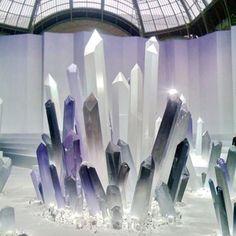 The crystal maze at Chanel fashion show #fashion #pfw #parisfashionweek