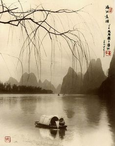 robert doisneau and sophia thomalla: Exquisite Landscape Photographs ~ By Photographer Don Hong-Oai Traditional Paintings, Traditional Art, Asian Artwork, Japan Painting, Art Asiatique, Chinese Landscape, Art Japonais, China Art, Painting Gallery