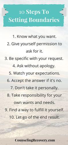 10 Steps to Setting Boundaries