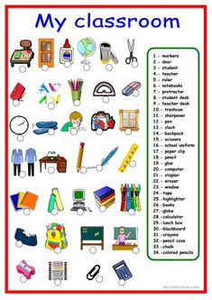 Classroom objects and school supplies - ESL worksheet by Spanish Worksheets, Spanish Vocabulary, Spanish Activities, Vocabulary Worksheets, Spanish Games, Printable Worksheets, Spanish Teacher, Spanish Classroom, Teaching Spanish