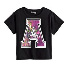 "Disney D-Signed Glitter ""A"" Tee - Girls #Kohls101  All my girls would like  #PCandKohlsBTS"