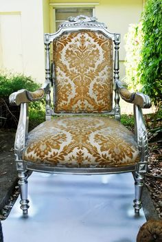 orange victorian chair: pretty without the pretension.