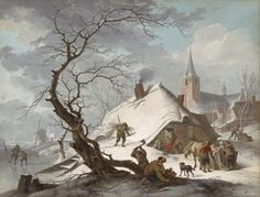 File:Hendrik Meyer - A Winter Scene - Google Art Project.jpg
