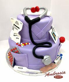 Nursing Graduation   The Ambrosia Bakery Cake Designs- Baton Rouge, La  