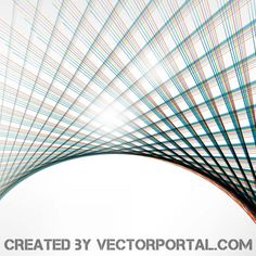 Vector Colorful Lines Graphic Background
