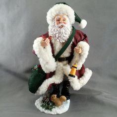 Possible Dreams Clothtique 1999 Christmas Santa and Friends Cardinal Squirrel  #PossibleDreams