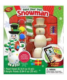 This Paint Your Own Snowman Set by Works of Ahhh... is perfect! #zulilyfinds