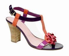 Modèle BARBARA sandale salomé Mellow Yellow - Camille Daurel design été 2007