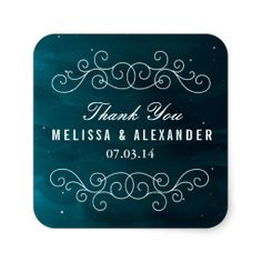 Shop Stargazer Wedding Favor Stickers created by origamiprints. Navy Wedding Stationery, Whimsical Wedding Invitations, Wedding Envelopes, Wedding Invitation Sets, Wedding Favours Thank You, Wedding Favor Labels, Diy Wedding Favors, Wedding Ideas, Wedding Stuff