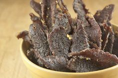 Oven-baked Beef Jerky - I might spice up the marinate a bit and use a sugar substitute, but for how-to-technique, this recipe is hard to beat.