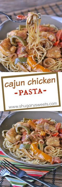 Business Cookware Ought To Be Sturdy And Sensible Looking For A Delicious Dinner Recipe That's Ready In About 30 Minutes? This Cajun Chicken Pasta Is Colorful, Spicy, And Quick Cajun Recipes, Healthy Crockpot Recipes, Pasta Recipes, Italian Recipes, Cooking Recipes, Italian Meals, Crockpot Dishes, Noodle Recipes, Slow Cooker Pasta