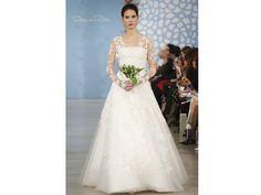 Vestido de novia de Oscar dela Renta 2014 romántico