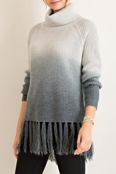 Entro Dip Dye Turtleneck Sweater Suits For Women 2fc8f3dd5