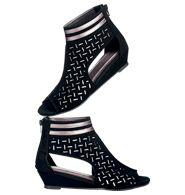 Perforated Microwedge Sandal