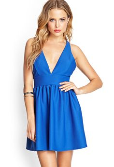 Mesh Plunge Skater Dress | FOREVER21 #SummerForever