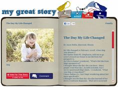 May 2012 My Great Story of the Month Contest Winner: The Day My Life Changed by Anne Hollis of Elmwood, IL. Visit www.ndss.org/stories to check out the collection and share your story!