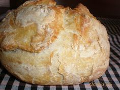Blog de cuina de la dolorss: Pan sin amasar No Knead Bread, Pan Bread, Baguette, Pan Dulce, Our Daily Bread, Canapes, How To Make Bread, Sin Gluten, Cheese