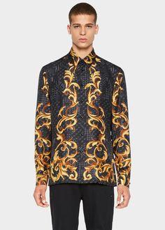 Chemise soie motif foulard intarsia - A732 Chemises Chemise Foulard, Prêt À  Porter, Mode 4228f79d78f