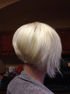 The asymmetrical bob perfected at Ambiance Day Spa and Salon.