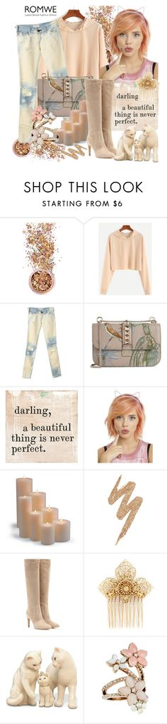 """""""Romwe sweatshirt"""" by irinavsl ❤ liked on Polyvore featuring In Your Dreams, Current/Elliott, Valentino, Sugarboo Designs, Frontgate, Urban Decay, Gianvito Rossi, Miriam Haskell, Lenox and Accessorize"""