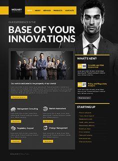 web design site inspiration black yellow dark professional freelancer corporate businessman