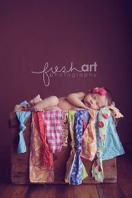 photography / fabric scraps... on a side note, this newborn photog is AMAZING ♥ - Babies