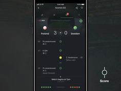 Score app - match view and splash screen by Maciej Karolczak