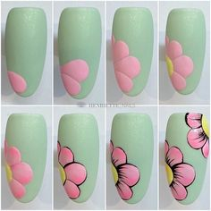 Cat Nail Art, Pink Nail Art, Flower Nail Art, Nail Art Diy, Nail Art Designs Videos, Nail Art Videos, Nail Art Blog, Nail Art Hacks, Nail Art Abstrait