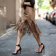 Women Fringed Tassel Skirt. For more great fall items check out this post.