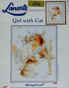 Lanarte Lifestyles GIRL WITH CAT By Stoney Creek Collection - Counted Cross Stitch Pattern Chart on Etsy, $8.75