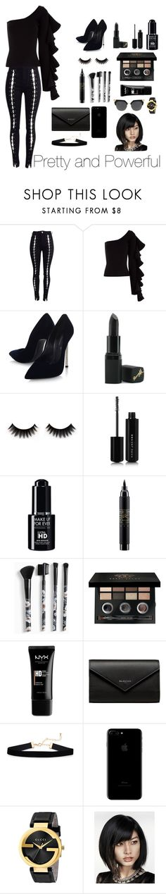 """Pretty and Powerful❤"" by varshak1923 ❤ liked on Polyvore featuring Beaufille, Casadei, Barry M, Marc Jacobs, MAC Cosmetics, Torrid, Bobbi Brown Cosmetics, NYX, Balenciaga and Gucci"