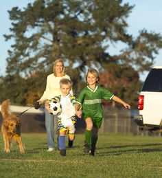 Kids need to be at soccer practice? You don't need to just sit!    Enlist another parent and do some speed walking around the field while you visit.    Or would you prefer to take your dog?