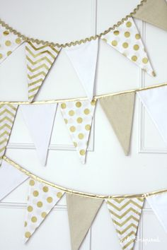Fabric Pennant Banner Tutorial